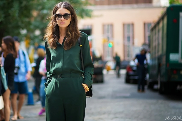 leila-yavari-before-theyskens-theory-nyfw-new-york-fashion-week-street-style-fashion-as-usual-ryosuke-sato-green-monotone-outfit-summer-sunglasses-style