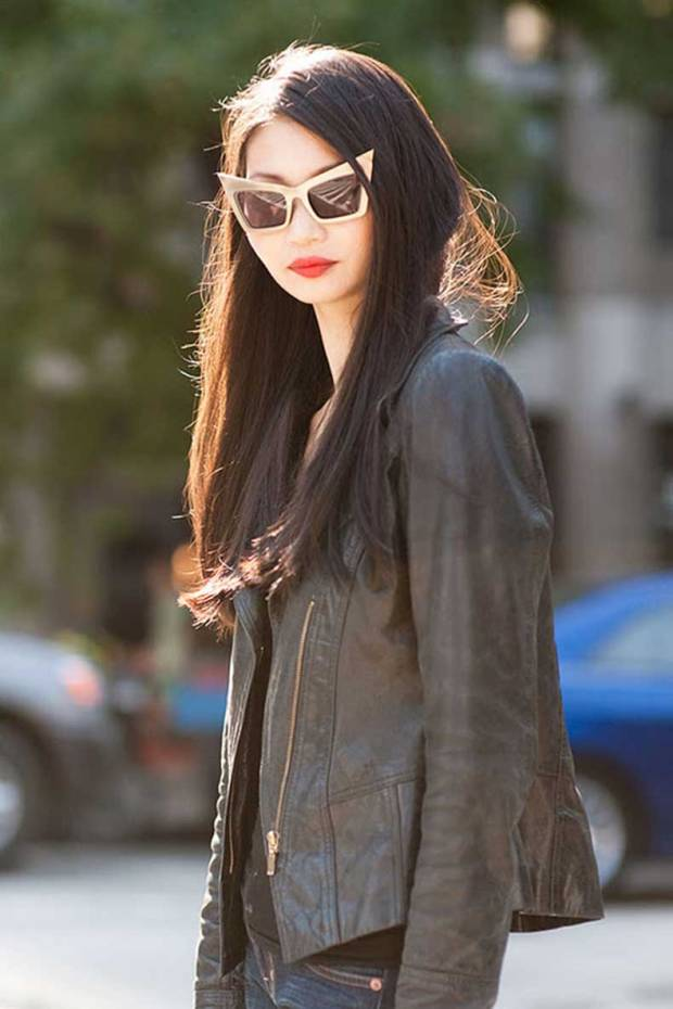 street-style-asian-girl-red-lips-jenny-packham-vanessa-jackman-gold-frame-sunglasses-street-style-cool-funky-stylish-unique